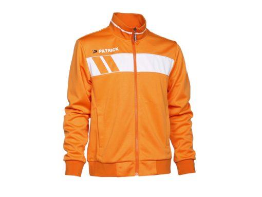 Giacca tuta allenamento arancione/bianco