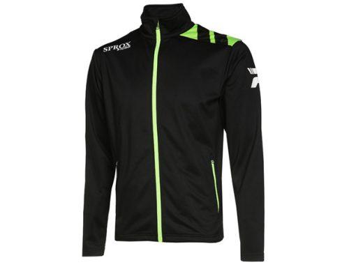 Giacca sportiva nero/verde fluo