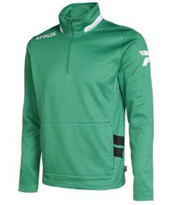 Felpa sportiva verde/bianco/nero