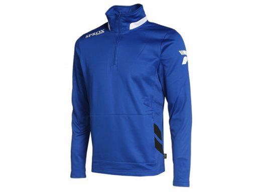 Felpa sportiva royal blu/bianco/nero