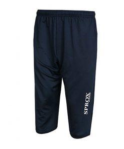 Pantaloni 3/4 da allenamento navy blu