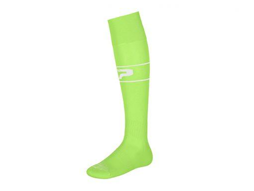Calze con piede verde fluo