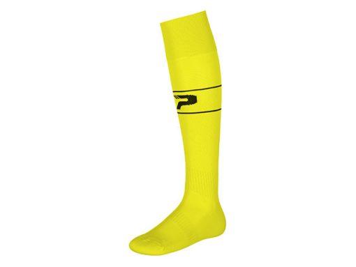 Calze con piede giallo fluo