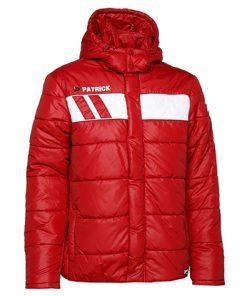 Giacca invernale imbottita rosso/bianco